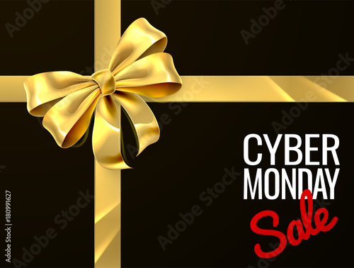 Cyber Monday Sale Gift Bow Ribbon Design