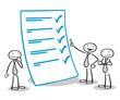 Business Leute bei Kontrolle mit Checkliste