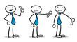 Business Leute entscheiden Bewertung mit Daumen hoch