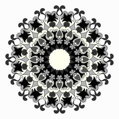 Ornament beautiful pattern with mandala. Geometric circle element made in vector