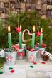 Leinwanddruck Bild - Vier Kerzen fuer den Advent