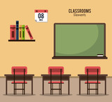 Classroom elements design icon vector illustration graphic design - 181000202