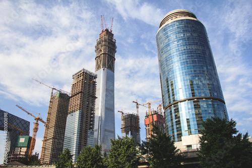 Foto op Canvas Peking Beijing skyscrapers under construction