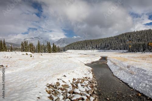 Foto op Canvas Grijs Banff national park