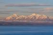 Quadro Cordillera Apolobamba and Lake Titicaca in Bolivia