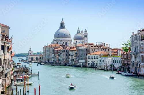 Beautiful view of water street and old buildings in Venice, ITALY - 181016491