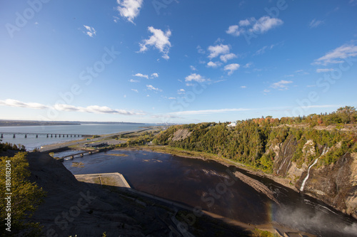 Plexiglas Diepbruine Montmorency Falls