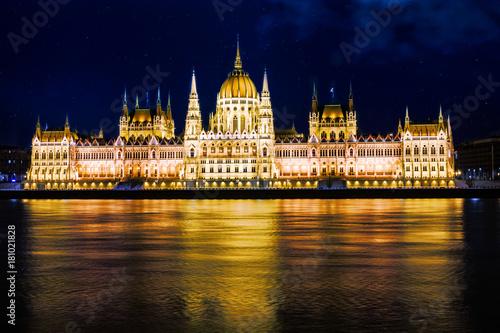 In de dag Boedapest Ungarisches Parlament