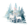 Watercolor christmas illustration. Perfect for christmas and new year cards, invitations