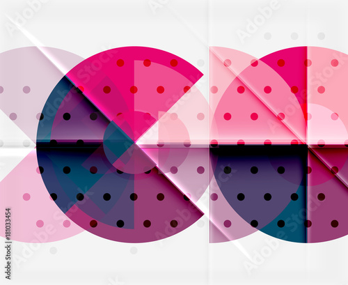 Poster Geometric circle abstract banner