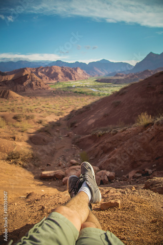 Plexiglas Diepbruine Mountains Landscape