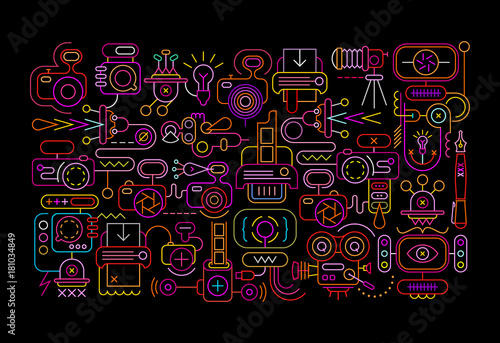 Keuken foto achterwand Abstractie Art Photography Equipment abstract design