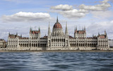 Hungarian Parliament in Budapest, Hungary. - 181036673