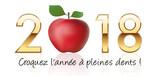 2018 Vœux  Carte De Vœux  Santé  Fitness  Vie Saine  Diététique  Forme  Sport  Résolution Wall Sticker