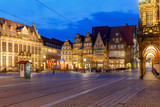 Bremen. The central market square. Town Hall. - 181041273