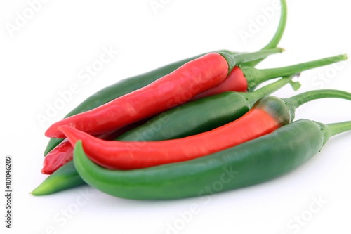 Papiers peints Hot chili Peppers chili red and green