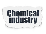 Industry concept: Painted black text Chemical Industry on Torn Paper background with  Tag Cloud - 181046402