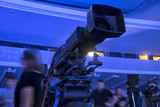 tv camera in a concert hall. - 181049896