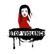 symbolic illustration to stop violence on women