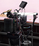 Professional digital video camera. cinematography in the pavilion - 181059835