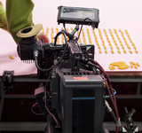 Professional digital video camera. cinematography in the pavilion - 181059842