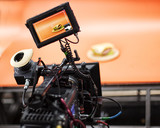 Professional digital video camera. cinematography in the pavilion - 181059865