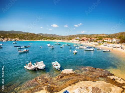 Fotobehang Zomer Summer Sea Landscape Boats