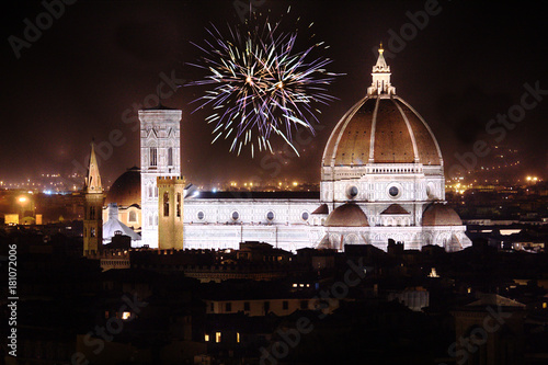 Foto op Canvas Florence Fuochi artificiali a Firenze