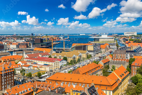 Fridge magnet Panorama of Copenhagen
