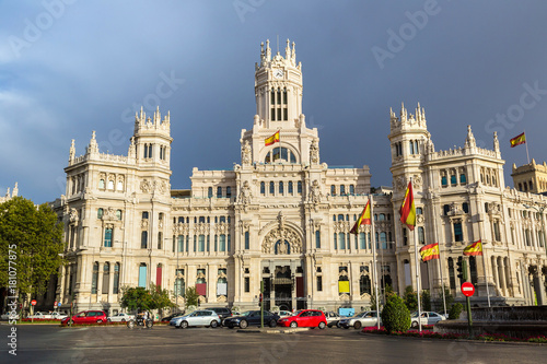 Keuken foto achterwand Madrid Cibeles Palace in Madrid