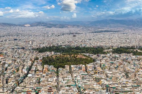 Fotobehang Athene Panoramic view of Athens, Greece