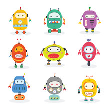 Cute Robot Set  Sticker