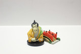 model of japan style figure at the board