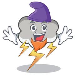 Elf thunder cloud character cartoon