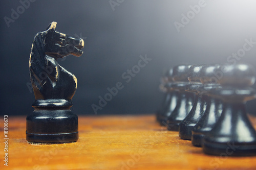 Poster Stone chess game