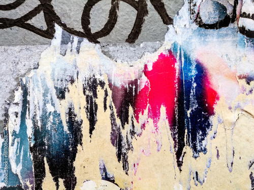 Detail graffiti on wall texture and background Poster