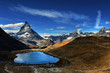 Quadro Mt Matterhorn reflected in Riffelsee Lake Zermatt Canton of Valais Switzerland