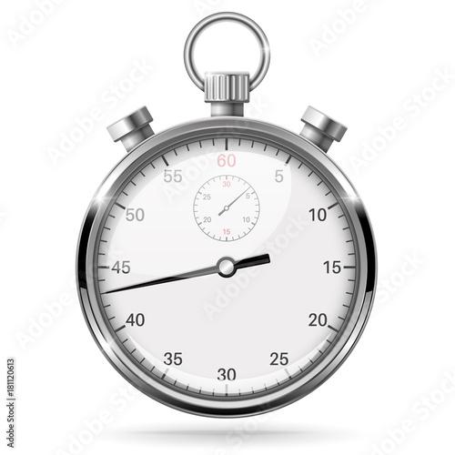 Stopwatch. Vector 3d illustration