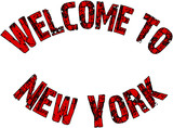 Welcome to New York Text Sign - 181123803