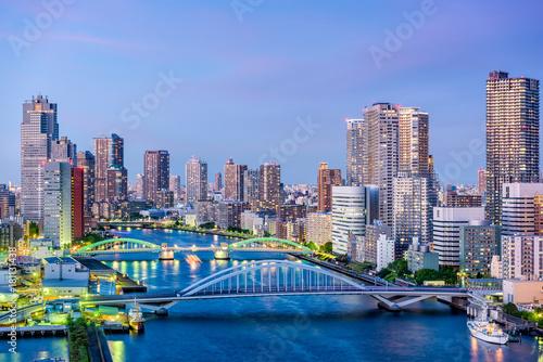 Wall mural Tokyo, Japan Sumida River
