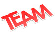 Team word with white border