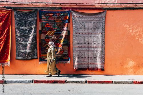 Tuinposter Marokko streets of marrakech old medina, morocco