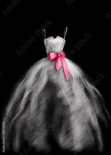 wedding dress. fashion illustration