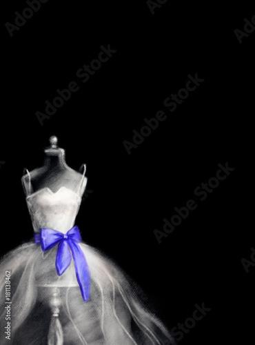 mannequin and dress. fashion illustration