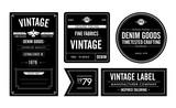 Denim Goods Vintage Labels & Hang Tag - 181141658