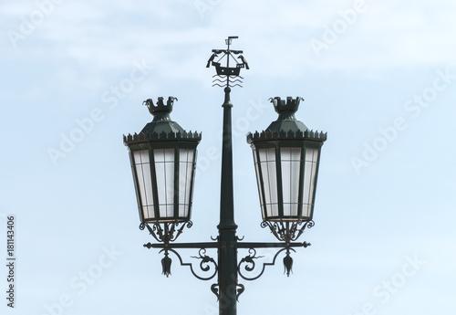 Keuken foto achterwand Schip Old vintage lantern on the street in Lisbon.