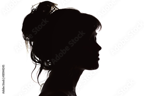 9b9f3876d silhouette of beautiful profile of woman face concept beauty and fashion