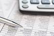 Leinwanddruck Bild - calculator and statistics