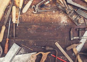 retro wood work tools header
