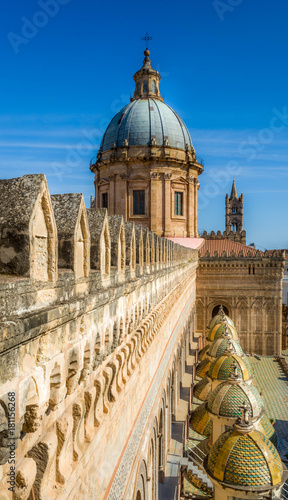 Palermo cathedral rooftop, Sicily, Italy, Europe